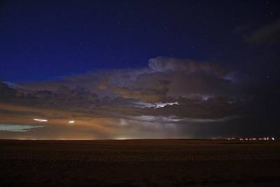 Lightning Photograph - Early Evening Storm by Marcelo Albuquerque