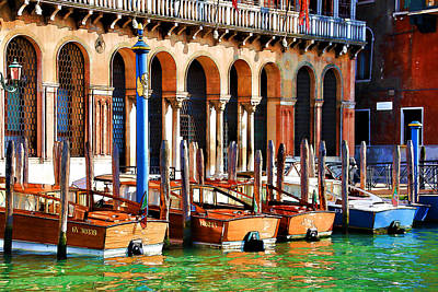 Digital Art - Early Evening Venice by Brian Davis