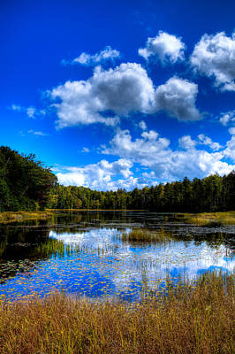 Early Fall Color On Fly Pond - Old Forge New York Art Print by David Patterson