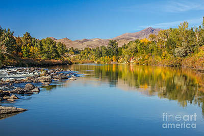 Early Fall On The Payette Art Print by Robert Bales