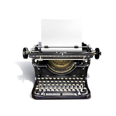 Photograph - Early German Typewriter by Science Photo Library