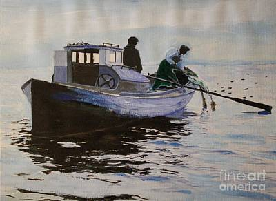 Early Gillnetter At Work Art Print
