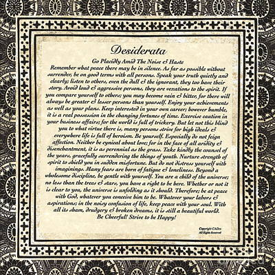 Early Gothic Style Desiderata Original by Desiderata Gallery