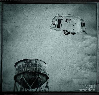 Relic Photograph - Early Historic Airstream Flight by Edward Fielding