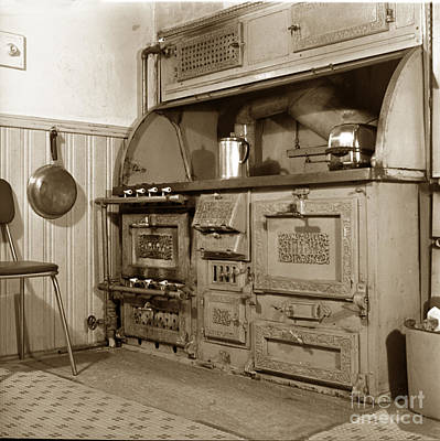 Photograph - Early Kitchen With A Gas Stove 1920 by California Views Archives Mr Pat Hathaway Archives