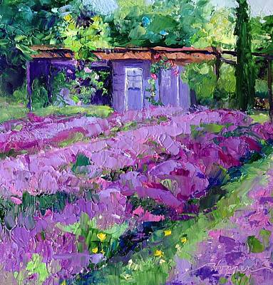 Lavander Painting - Early Lavender France by Carol Hopper