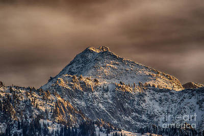 Red Roses - Early Lone Peak Snow HDR by Mitch Johanson