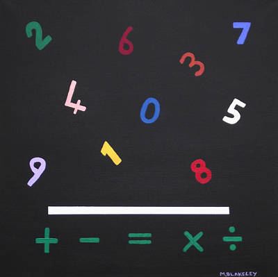 Painting - Early Maths In Color by Martin Blakeley