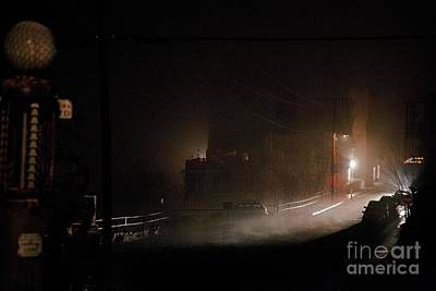 Photograph - Early Misty Morning In Jerome Az by Ron Chilston
