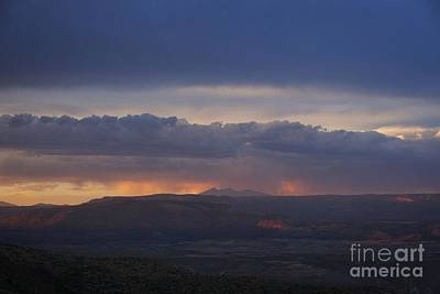 Photograph - Early Monsoon Sunset Over San Francisco Peaks by Ron Chilston