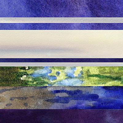 Early Morning Abstract Collage Art Print by Irina Sztukowski
