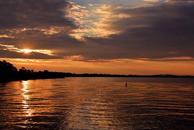 Photograph - Orange Sunrise At Port St. Joe by Judy Wanamaker