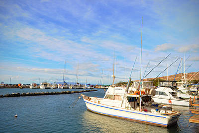 Photograph - Early Morning At Maalaea Marina by Paulette B Wright