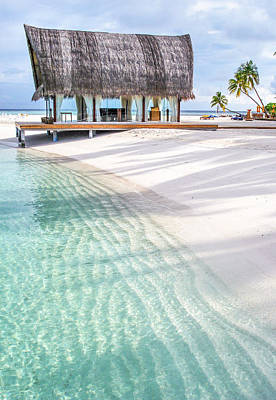 Early Morning At The Maldivian Resort 1 Print by Jenny Rainbow