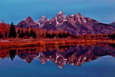 Photograph - Early Morning At The Tetons by Benjamin Yeager