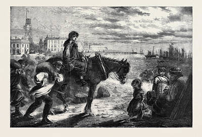 Herring Drawing - Early Morning At Yarmouth Arrival Of The First Herring by English School
