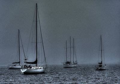 Katharine Hepburn - Early Morning Boats On The Bay by Jeff Watts