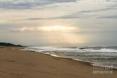 Early Morning By The Shore  Art Print