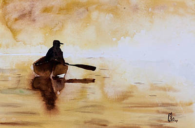 Early Morning Canoe Art Print