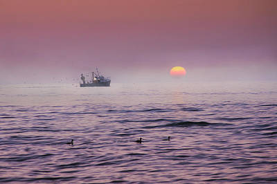 Silver Turquoise Photograph - Early Morning Catch by Adrian Campfield