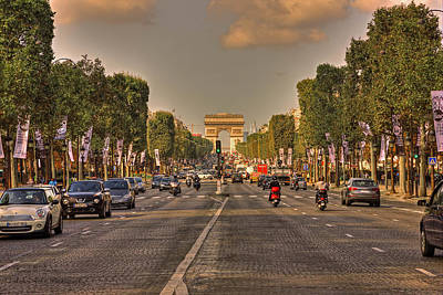 Photograph - Early Morning Champes Elysees  by Hany J