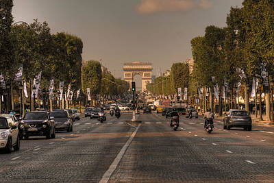 Photograph - Early Morning Champes-elysees - Version 2  by Hany J