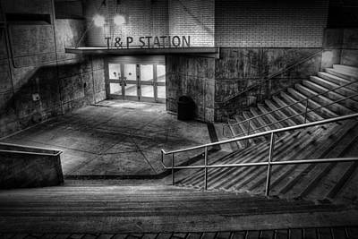 Train Station Photograph - Early Morning Commute by Joan Carroll
