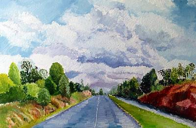 Painting - Early Morning Drive by Aditi Bhatt