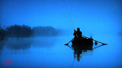Early Morning Fishing  Art Print