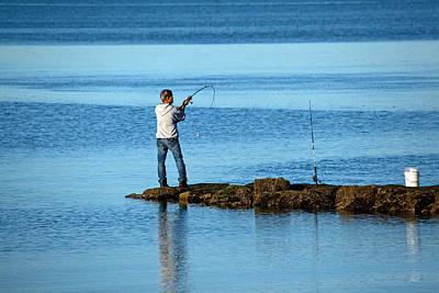Thomas Kinkade - Early Morning Fishing by Karol Livote