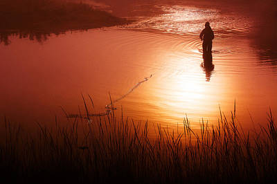 Wade Fishing Photograph - Early Morning Fishing by Todd Klassy
