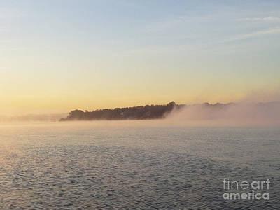 Early Morning Fog Rolling In Art Print by John Telfer