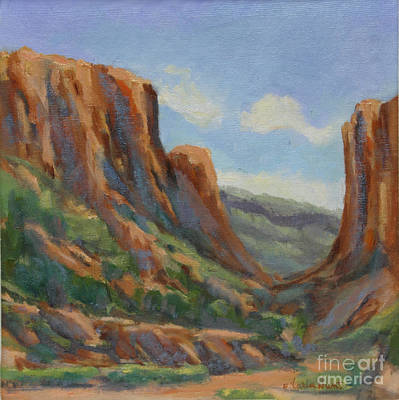 Red Rock Canyon Painting - Early Morning In Diablo Canyon by Maria Hunt