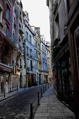 Early Morning In The Latin Quarter Art Print by Evie Carrier