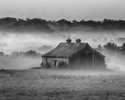 Photograph - Early Morning In The Mist Standard Crop 2 by Leah Palmer