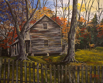 Smokey Mountains Painting - Early Morning In The Smokey Mountains by Julia Robinson