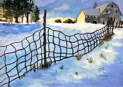 Painting - Early Morning In Winter by Jane Croteau