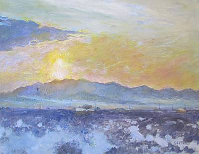 Painting - Early Morning In Wonder Valley by Sandra Lytch
