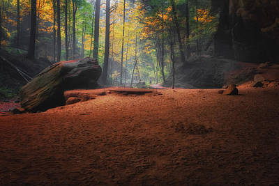 Photograph - Early Morning Light At Ash Cave by Richard Kopchock