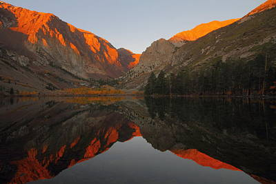 Early Morning Light During Autumn At Parker Lake In The Eastern Sierras Art Print