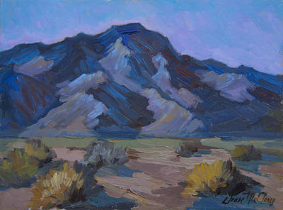 San Jacinto Painting - Early Morning Light Mt. San Jacinto by Diane McClary