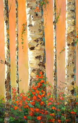 Forest Wall Art - Painting - Early Morning by Marilyn Hurst