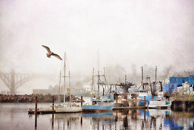 Yaquina Bay Bridge Photograph - Early Morning Newport Oregon by Carol Leigh