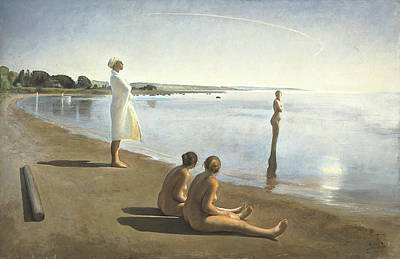 Women Together Painting - Early Morning by Odd Nerdrum