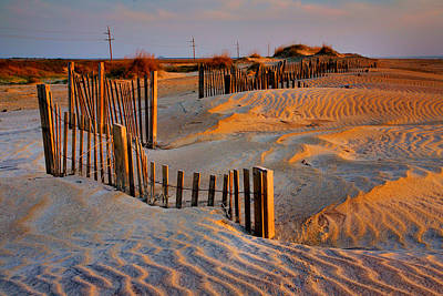 Early Morning On The Dunes I Art Print by Steven Ainsworth
