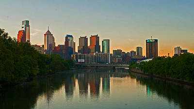 Photograph - Early Morning Philadelphia Skyline by Michael Porchik