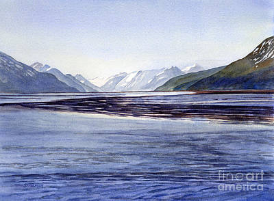 Early Morning Painting - Early Morning Shadows Turnagain Arm by Sharon Freeman