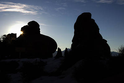 Silhouette Photograph - Early Morning Silhouette by Paul Cannon