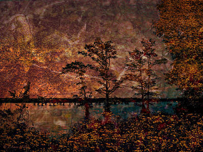 Digital Art - Early Morning Sunrise by J Larry Walker