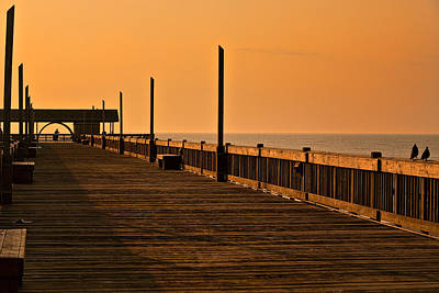 Outerspace Patenets Rights Managed Images - Early Morning Tybee Pier Royalty-Free Image by Diana Powell